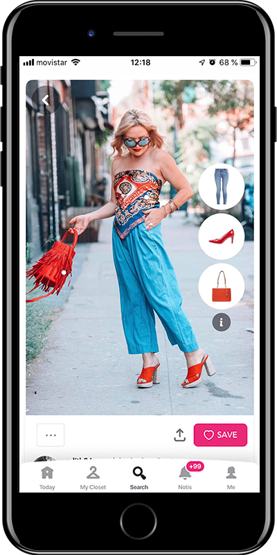 Girl wearing a very stylish outfit from Chicisimo fashion planner app