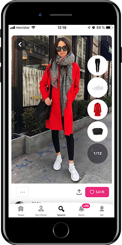 Girl wearing a winter chic outfit by Chicisimo fashion planner app