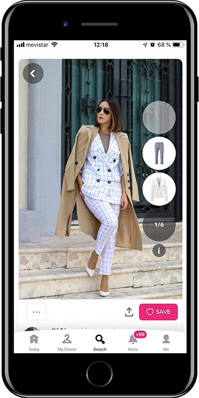 Girl wearing a perfect work outfit by Chicisimo planner app