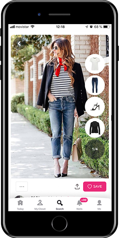 Girl wearing a casual outfit with scarf by Chicisimo fashion planner app