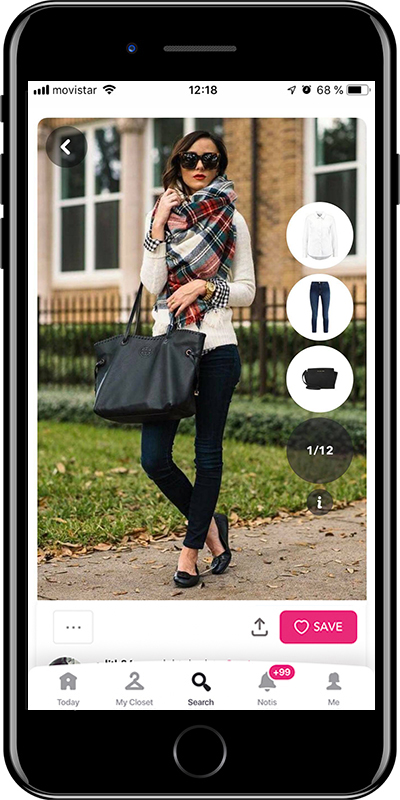 Girl wearing a casual winter outfit with a scarf by Chicisimo fashion planner app