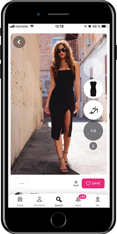 Girl wearing a square flattering neckline dress by Chicisimo outfit planner app