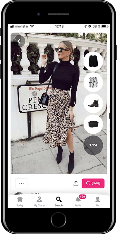 Girl wearing an elegant autumn outfit by Chicisimo fashion app