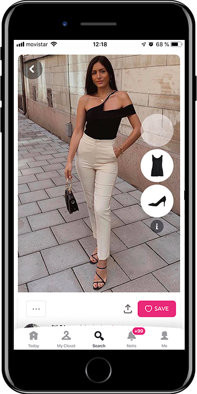 Girl wearing a basic night outfit by Chicisimo planner app