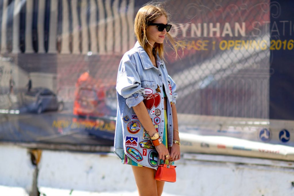 Add some stickers to your denim jacket to look great