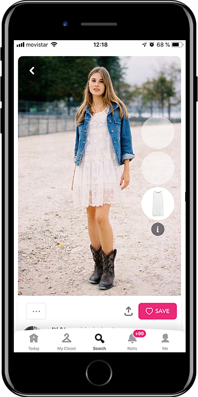 Wear your cowboy boots with a white dress with this outfit by Chicisimo fashion planner app