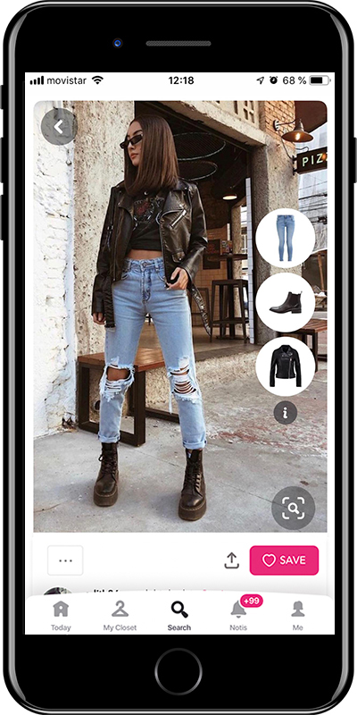 Outfit wearing grunge style by Chicisimo fashion planner app