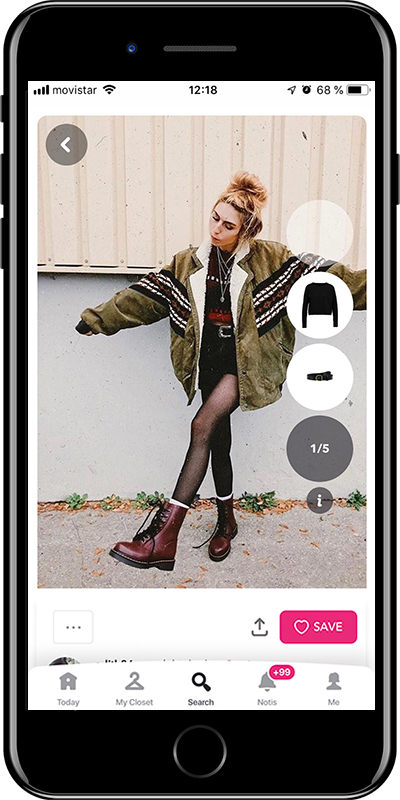 Girl wearing a maxi jacket by Chicisimo fashion planner app