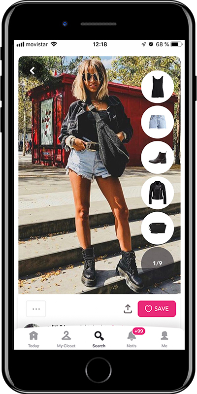 Outfit wearing grunge style  with shorts by Chicisimo fashion planner app