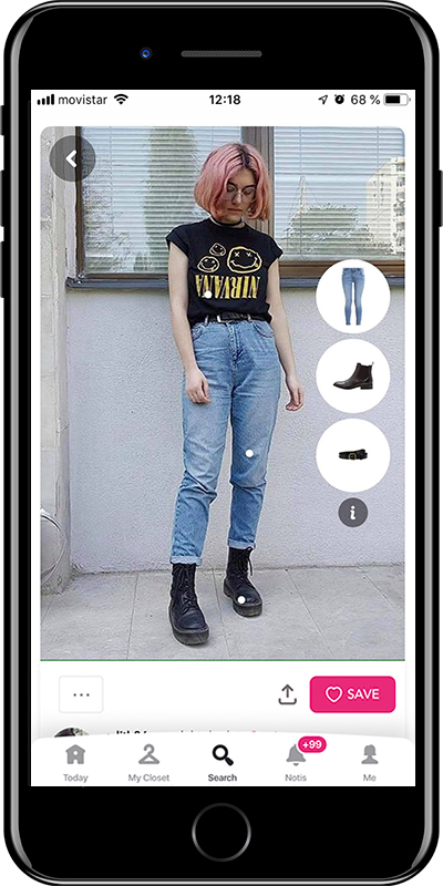 Basic outfit wearing grunge style by Chicisimo fashion planner app