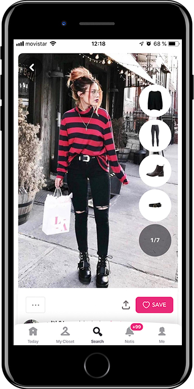 Outfit wearing grunge style with black jeans by Chicisimo fashion planner app
