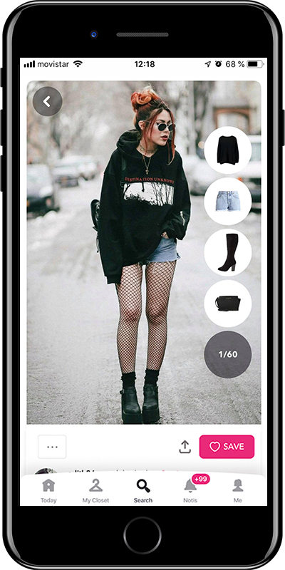 Outfit wearing grunge style  with mini shorts by Chicisimo fashion planner app