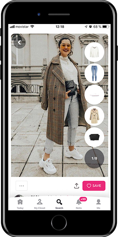 Rock the sporty look with long coat by Chicisimo fashion planner app