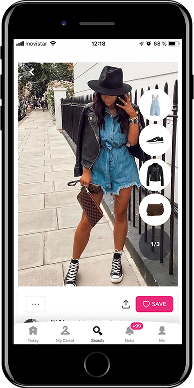 Rock the sporty look with a denim overall by Chicisimo fashion planner app