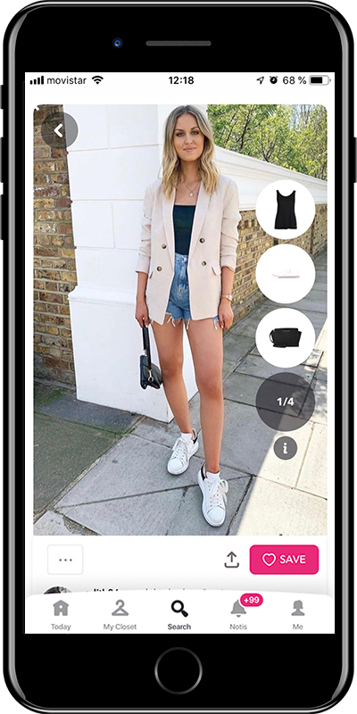 Rock the sporty look with denim shorts by Chicisimo fashion planner app