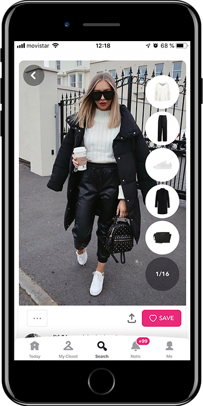 Rock the sporty look with white sneakers by Chicisimo fashion planner app