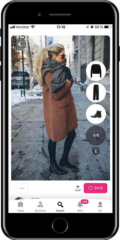 A cozy winter outfit by Chicisimo outfit planner app
