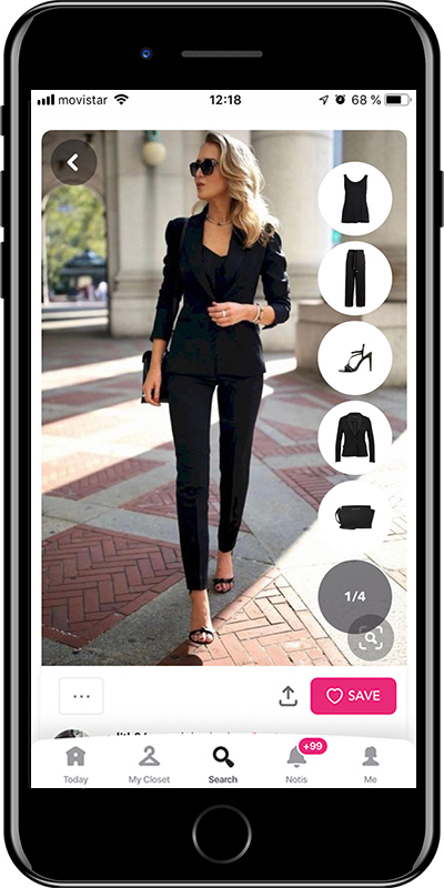 Black trousers are a basic for working outfits by Chicisimo fashion planner app