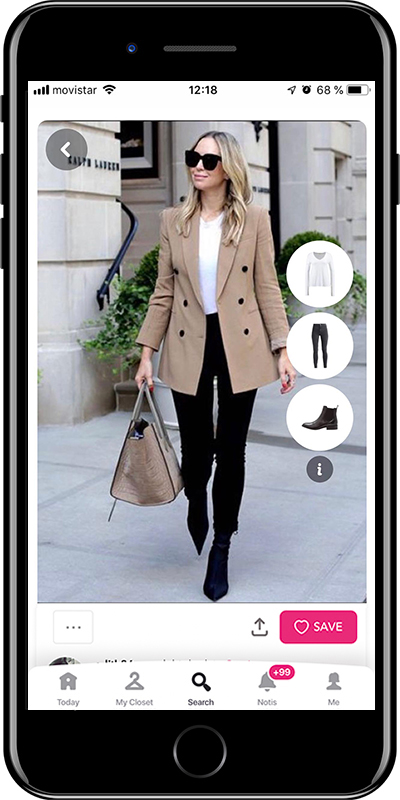 A classic blazer is a basic for working outfits by Chicisimo fashion planner app