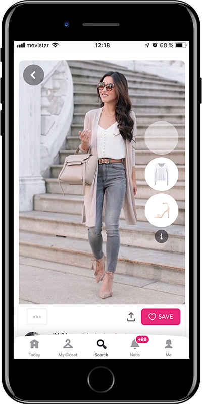 A basic outfit by Chicisimo fashion planner app