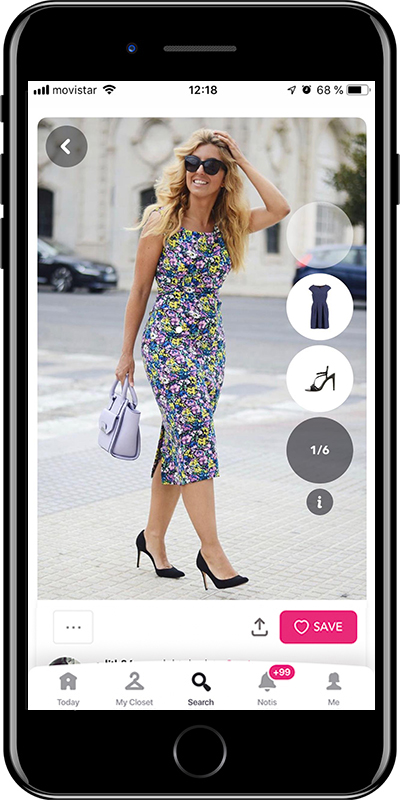 Outfit with a floral dress by Chicisimo fashion planner app