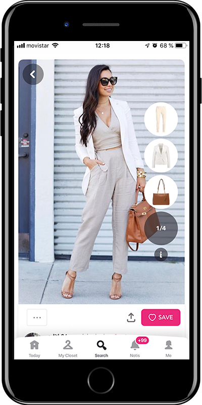 A tote bag is a basic for working outfits by Chicisimo fashion planner app