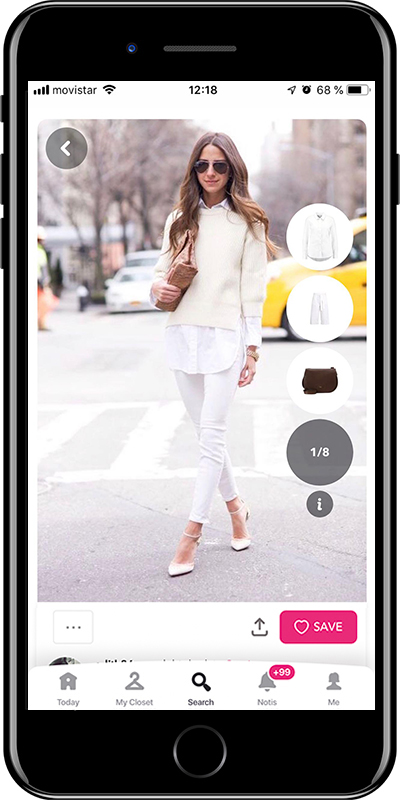 A white shirt is a basic for working outfits by Chicisimo fashion planner app